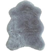 KUNSTFELL - Silberfarben, Natur, Textil (80/110cm) - Boxxx