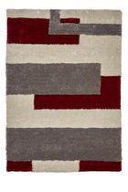 TEPIH VISOKOG FLORA - siva/bež, Design, tekstil (120/170cm) - Novel