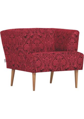 FOTELJ,  rdeča, črna tekstil - naravna/rdeča, Design, tekstil/les (85/71/80cm) - Carryhome