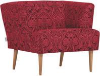 SESSEL in Textil Rot, Schwarz  - Rot/Schwarz, Design, Holz/Textil (85/71/80cm) - Carryhome