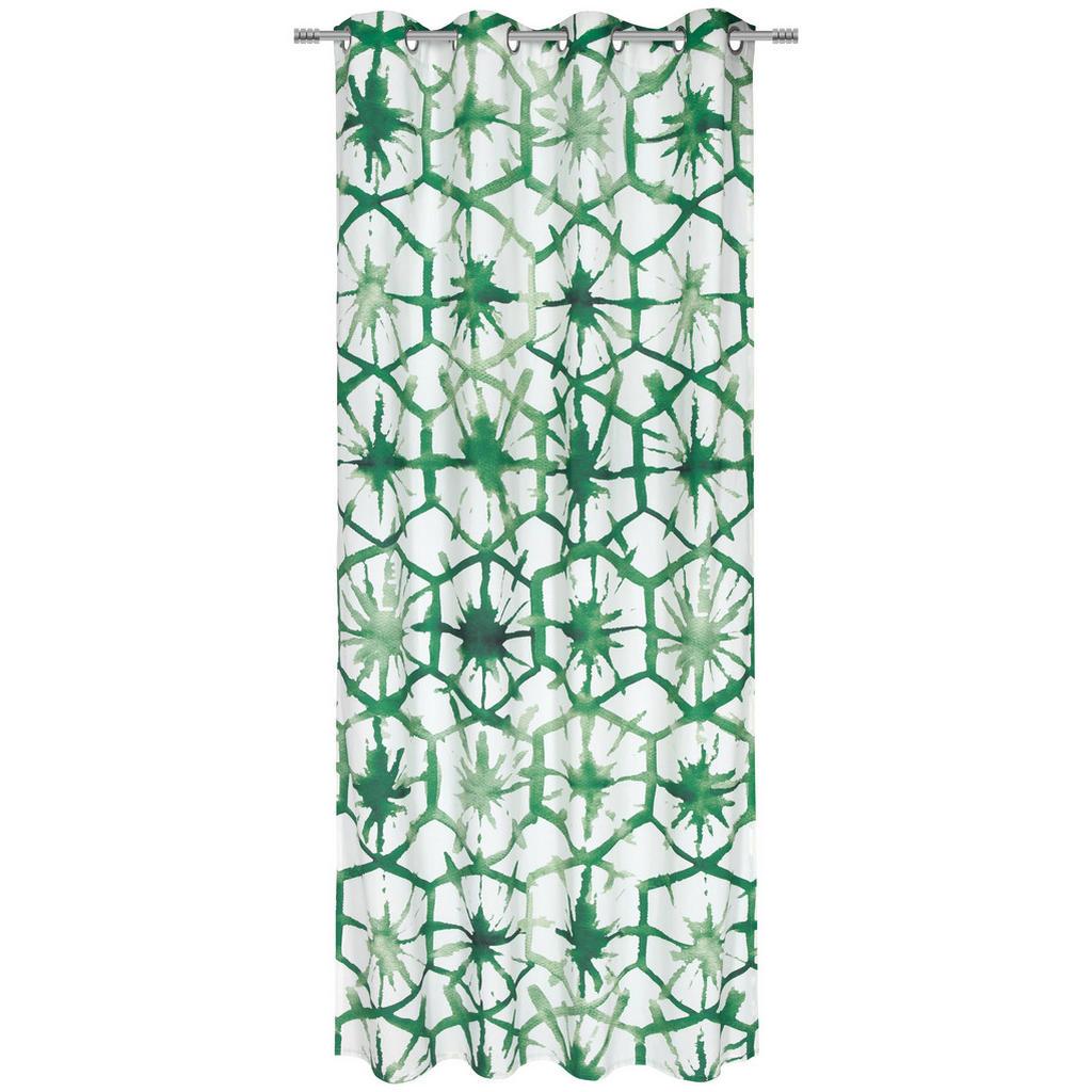 Ösenschal mit grünem Muster