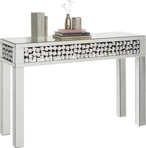 KONSOL - silver, Design, glas/träbaserade material (120/80/40cm) - Xora