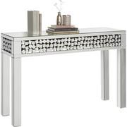 KONSOLE in Silberfarben - Silberfarben, Design, Glas/Holzwerkstoff (120/80/40cm) - Xora