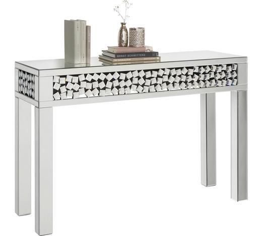 ODKLÁDACÍ STOLEK, barvy stříbra - barvy stříbra, Design, kompozitní dřevo/sklo (120/80/40cm) - Xora