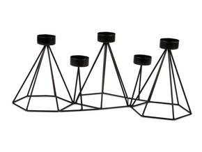 LJUSSTAKE - svart, Basics, metall (15/21/41cm)