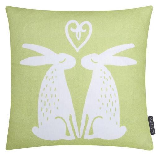 KISSENHÜLLE Grün 40/40 cm - Grün, Textil (40/40cm)