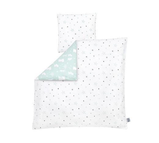 BABYBETTWÄSCHE 80/80 cm - Weiß/Mintgrün, Basics, Textil (80/80cm) - Zöllner