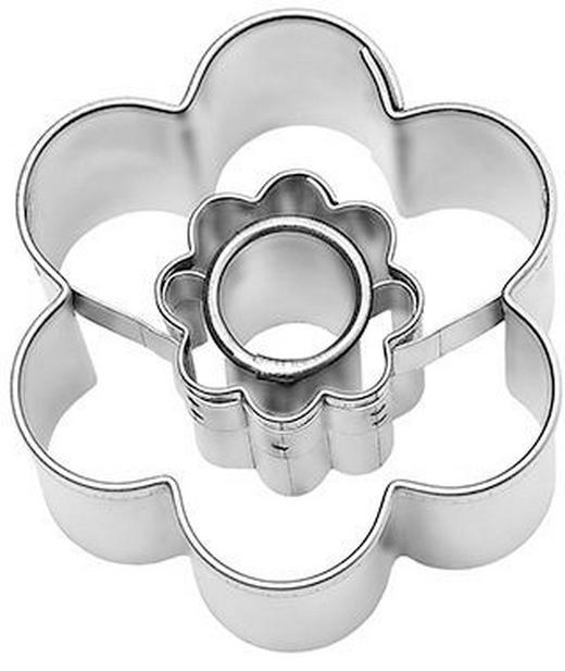 KEKSAUSSTECHFORM - Edelstahlfarben, Basics, Metall (4/4/2,5cm) - Birkmann