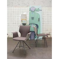 ARMLEHNSTUHL in Anthrazit, Hellbraun, Taupe - Taupe/Hellbraun, Design, Leder/Textil (69/91/60cm) - Bert Plantagie