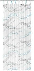 ZAVJESA S OMČAMA - siva/tirkizna, Konvencionalno, tekstil (135/245cm) - ESPOSA