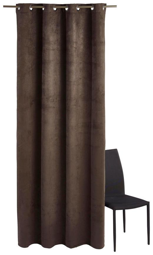 ÖSENSCHAL  blickdicht   140/245 cm - Anthrazit, Basics, Textil (140/245cm)