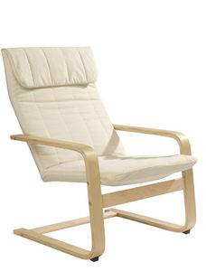 RELAXFÅTÖLJ - beige/naturfärgad, Design, trä/textil (67/93/78cm) - Carryhome