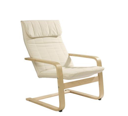 RELAXAČNÍ KŘESLO, dřevo, textil, přírodní barvy, béžová - přírodní barvy/béžová, Design, dřevo/textil (67/93/78cm) - Carryhome