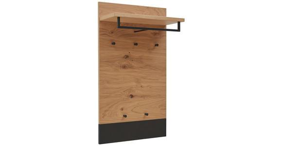GARDEROBENPANEEL 60/106/27 cm  - Eichefarben/Schwarz, Design, Holz (60/106/27cm) - Dieter Knoll