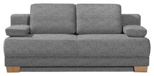 SCHLAFSOFA in Textil Grau  - Eichefarben/Grau, KONVENTIONELL, Holz/Textil (200/95/101cm) - Venda