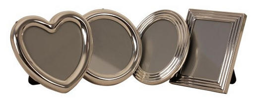 BILDERRAHMEN in Silberfarben - Silberfarben, Basics, Glas/Metall (6,5/6,5/1,3cm)