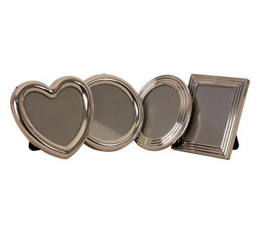 RÁM NA OBRAZY, barvy stříbra - barvy stříbra, Basics, kov/sklo (6,5/6,5/1,3cm)