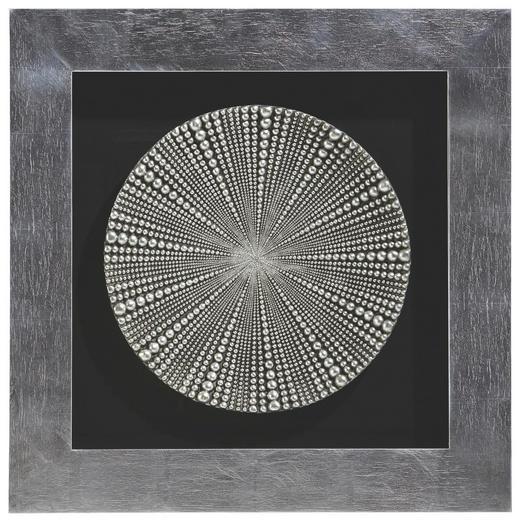 Ornamente, Strukturen BILD - Silberfarben/Schwarz, Design, Glas/Holz (80/80cm) - Monee