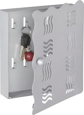 NYCKELSKÅP - alufärgad, Design, metall (22/24/4,50cm) - Boxxx