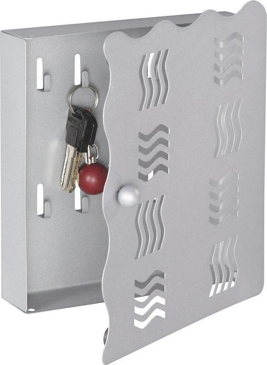 SCHLÜSSELKASTEN Alufarben - Alufarben, Design, Metall (22/24/4,50cm) - Boxxx
