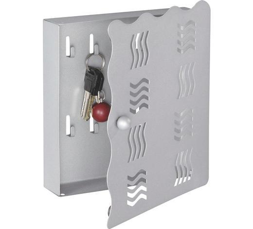 SCHRÁNKA NA KLÍČE, barvy hliníku - barvy hliníku, Design, kov (22/24/4,50cm) - Boxxx