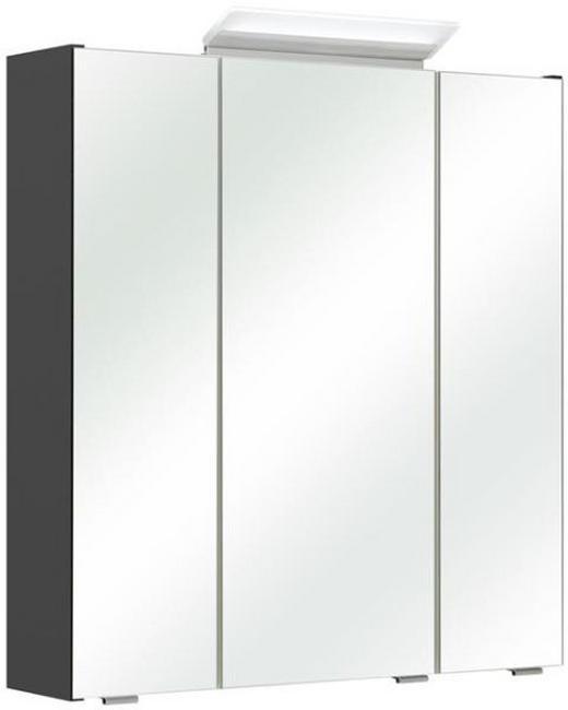 SPIEGELSCHRANK Anthrazit - Chromfarben/Anthrazit, Design, Glas/Holzwerkstoff (65/70/16cm) - Xora