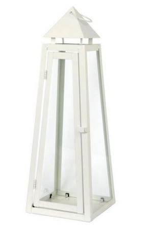LYKTA - vit, Design, metall/glas (25/70/25cm) - Ambia Home