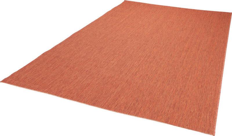 FLATVÄVD MATTA - terrakotta, Klassisk, textil (60/180cm) - Boxxx