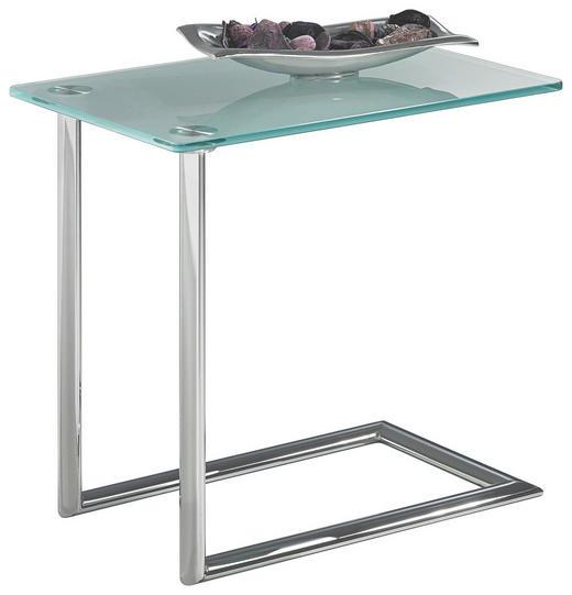 NACHTKÄSTCHEN Chromfarben - Chromfarben, Design, Glas/Metall (35/47,5/50cm) - Xora