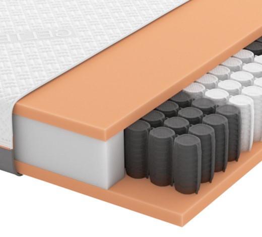GEL-TASCHENFEDERKERNMATRATZE Quantum 200 TFK 120/200 cm - Weiß, Basics, Textil (120/200cm) - Schlaraffia