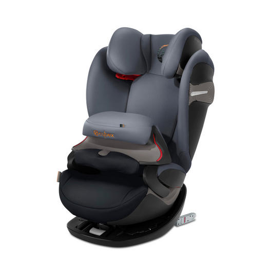 Kinderautositz Pallas S-Fix - Dunkelgrau/Schwarz, Basics, Kunststoff/Textil (42/54/63cm) - Cybex