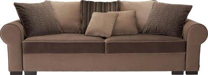 BIGSOFA Mikrofaser Braun - Braun, Design, Kunststoff/Textil (256/74-90/106cm) - Hom`in