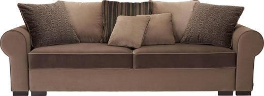 BIGSOFA in Textil Braun - Braun, ROMANTIK / LANDHAUS, Kunststoff/Textil (256/74-90/106cm) - Hom`in
