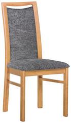 ŽIDLE - tmavě šedá/barvy buku, Konvenční, dřevo/textil (46/98/53cm) - DKK KLOSE