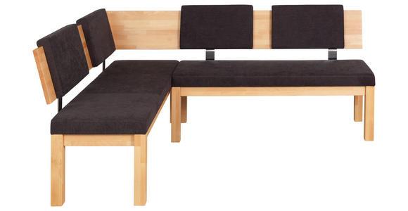 ECKBANK 160/200 cm  in Buchefarben, Dunkelbraun  - Dunkelbraun/Buchefarben, Natur, Holz/Textil (160/200cm) - Cantus