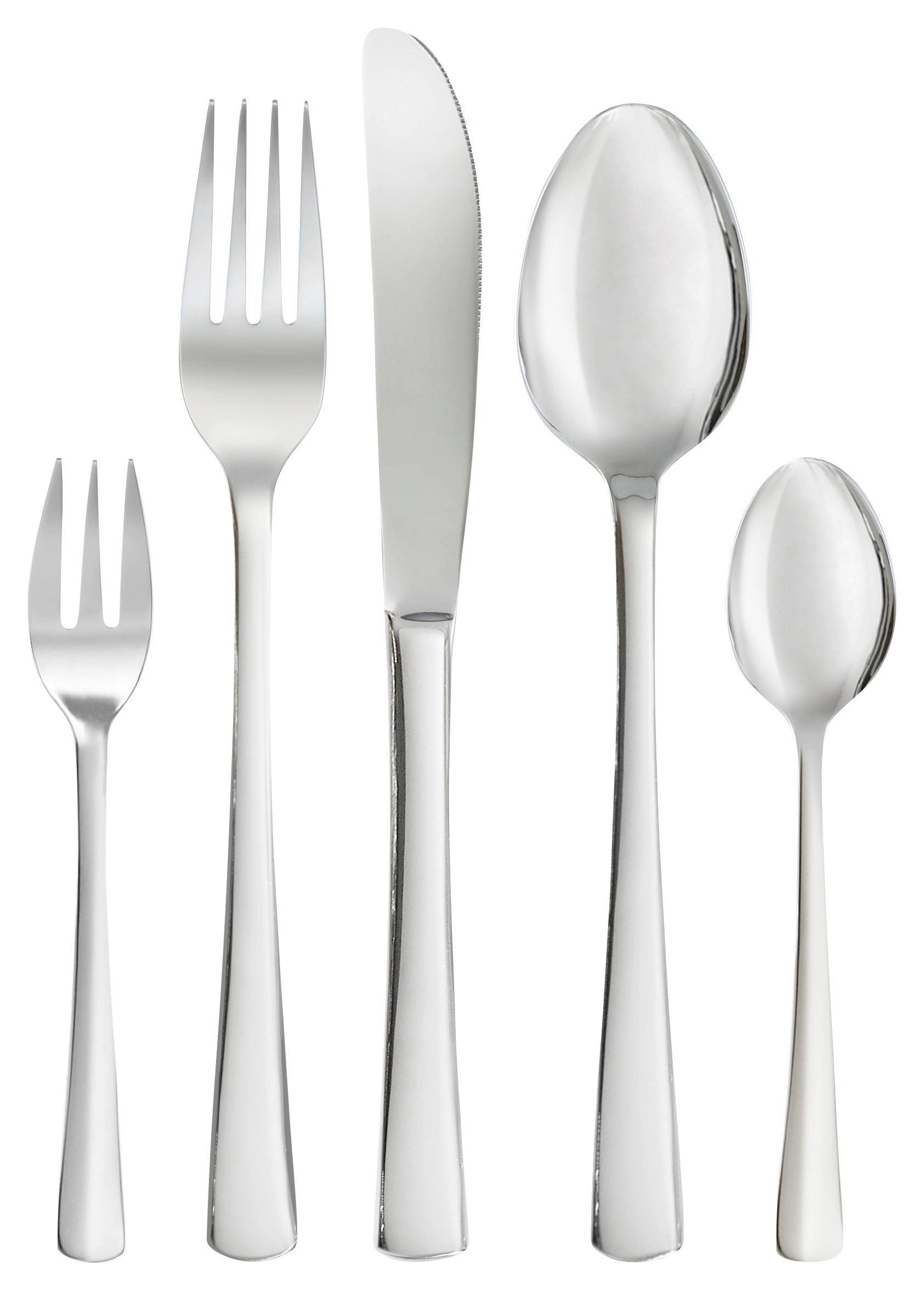 BESTECKSET - Edelstahlfarben, Basics, Metall - HOMEWARE