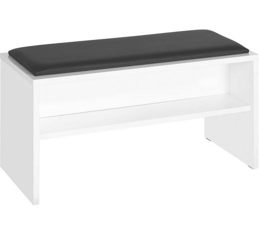 HOCKER in Holzwerkstoff Weiß  - Weiß, Design, Holzwerkstoff (90/48/40cm) - Sadena