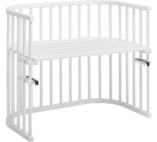 BEISTELLBETT Babybay Maxi Buche massiv Weiß  - Weiß, Basics, Holz (94/54/79cm) - Babybay