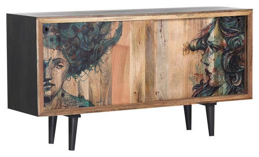 SIDEBOARD - Multicolor/Naturfarben, Design, Holz (160 85 45cm) - Lomoco