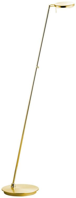 LED-GOLVLAMPA - mässingfärg, Design, metall (140cm)