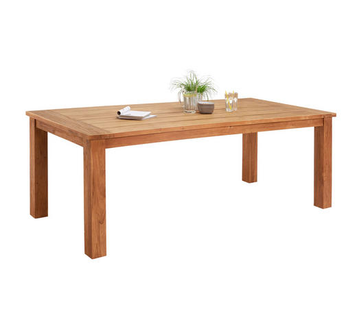 GARTENTISCH 200/100/75 cm - Teakfarben, Design, Holz (200/100/75cm) - Ambia Garden