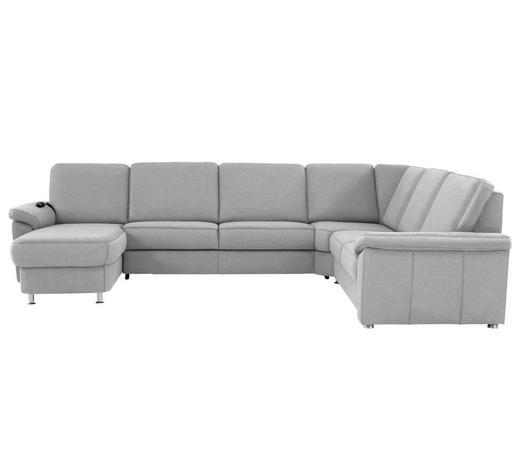 WOHNLANDSCHAFT in Textil Alufarben  - Chromfarben/Alufarben, KONVENTIONELL, Textil/Metall (163/330/240cm) - Beldomo System