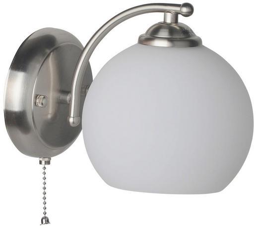 STENSKA SVETILKA 997136-1LS - bela/nerjaveče jeklo, Konvencionalno, kovina/steklo (21/13/21cm) - BOXXX