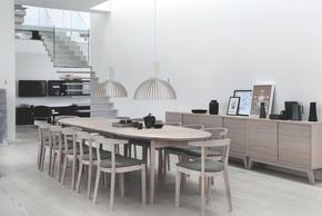 SIDEBOARD - vit/ekfärgad, Klassisk, trä (120/60/47cm) - Skovby