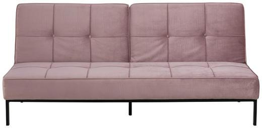 SCHLAFSOFA Samt Rosa - Schwarz/Rosa, Trend, Textil/Metall (198/87/95cm) - Carryhome