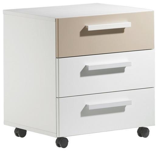 ROLLCONTAINER Sandfarben, Weiß - Sandfarben/Weiß, Design (48/54/41cm)