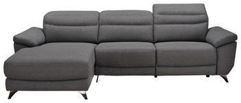 WOHNLANDSCHAFT in Textil Grau - Silberfarben/Grau, Design, Textil/Metall (167/269cm) - Xora