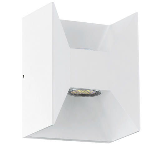 LED-AUßENLEUCHTE - Weiß, Design, Metall (14cm)