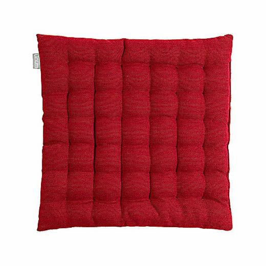 SITZKISSEN Bordeaux 40/40/3 cm - Bordeaux, Basics, Textil (40/40/3cm) - Linum