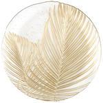 PLATZTELLER  33 cm  - Goldfarben, Trend, Glas (33cm) - Ambia Home